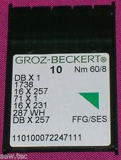 GROZ BECKERT INDUSTRIAL SEWING MACHINE BALL POINT NEEDLES 16x231 DBX1 SIZE 8/60