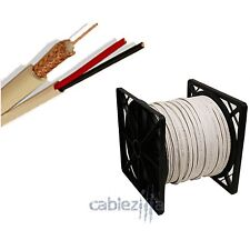 SIAMESE CABLE 1000FT RG59 RG59U VIDEO POWER 95% BRAID SECURITY CAMERA WIRE CCTV