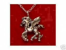 LOOK Sterling Silver charm flying winged Pegasus Pendant Charm Horse Celtic Jewe