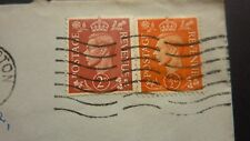 GEORGE V 1x TWO PENNY Stamp & 1x HALF PENNY Stamp. FRANKED 1952