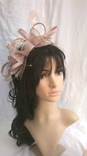 Latte Feather Fascinator..rosette on a headband..for wedding races.