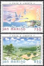 San Marino 1995 Europa/Peace/Freedom/Swans/Sheep/Birds/Nature 2v set (n33874)