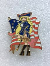 Hard Rock Cafe LONDON 2003 July 4th PIN Patriot Girl w/FLAG - HRC Catalog #18642