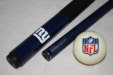 New NFL New York Giants Football Billiard Pool Cue Stick & NFL Logo Cue Ball