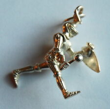 Vintage UK Fully Articulated Knight in Shining Armor Sterling Silver Charm