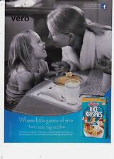 KELLOGG 2014 RICE KRISPIES print ad page advert clipping lady and little girl