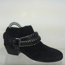 Sam Edelman Womens Black Leather Ankle Boots 6 M