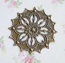 Antique bronze filigree component - pack of 20