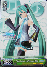 1x Weiss Schwarz Nice to Meet You Hatsune Miku ENGLISH Promo PROJECT DIVA F - 1x