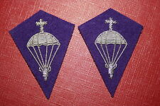 POLISH POLAND WW2 CHAPLAIN OFFICER'S AIRBORNE PARACHUTE COLLAR BADGE BULLION