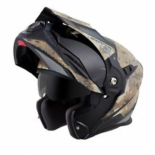 SCORPION EXO-AT950 Battleflage Sand Camo Modular Motorcycle Helmet MEDIUM