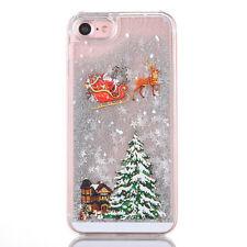 Christmas Tree Liquid Glitter Sparkle Quicksand Case For iPhone 7 7Plus 6 6P 5S