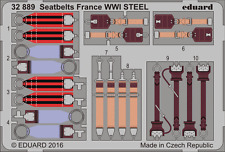 EDUARD 32889 WWI France Seatbelts STEEL in 1:32