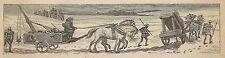 A3797 Balista in viaggio - Incisione - Stampa Antica del 1887