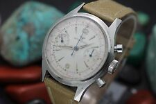 C. 1962 Vintage WITTNAUER Chronograph Cal. 14W Stainless Steel Men's Dress Watch