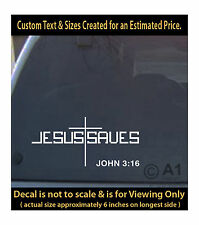 Jesus saves lord cross 6 inch vinyl decal 4car fun truck home laptop more sp4_41