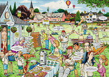 NEW! Ravensburger Best of British 13 The Cricket Match 1000 piece cartoon jigsaw