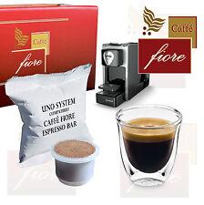 100 Cialde Capsule Uno System Compatibili Kimbo Illy - Caffè fiore Espresso Bar