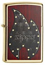 Zippo Briquet Leather Flame spring 2015 zippo flamme simili cuir neuf emballage d'origine