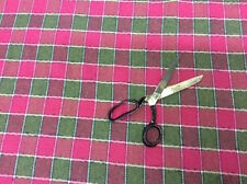 :  CLEARANCE:  Wool Mix Tartan Style Patterned Fabric -Pink & Green Colours