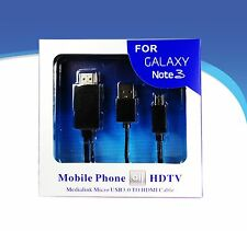 MHL Micro USB to HDMI TV AV Cable Adapter HDTV for Samsung Galaxy Note 3 S4 S5