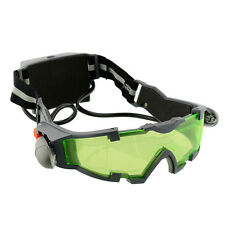 Adjustable Elastic Band LED Night Vision Goggles Green Lens Glasses Protection