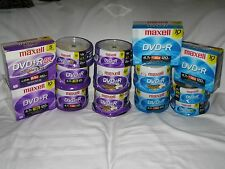 HUGE LOT OF MAXELL DVD-R DVD+R BURNABLE DISCS DISKS BRAND NEW SEALED LQQK