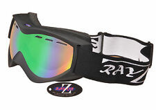 2017 RAYZOR PRO SKI SNOWBOARD GOGGLES UV400 VENTED ANTI FOG DOUBLE LENSED RRP£69