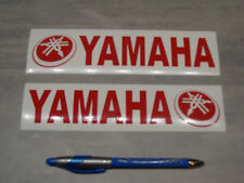 2x stickers pour Yamaha Rouge 19cm moto bike decals aufkleber pegatinas YAM1-027