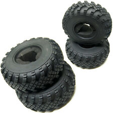 "4x Rock Racer Crawler 2.2"" Rubber Tire 40mm For 2.2 Beadlock Axial Wraith Wheels"