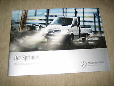 Mercedes Sprinter pritschenwagen & carretones folleto brochure de 9/2012
