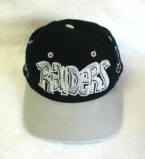 Vintage LOS ANGELES RAIDERS Youth Ball Cap TEAM NFL Black  FRESH FROM CLEANERS