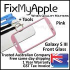 Samsung Galaxy S III S3 i9300 i9305 Pink Front Glass Screen Lens Replacement 3G