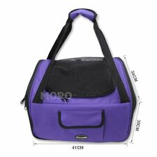 Pet Carrier Dog Cat Car Booster Seat Portable Soft Cage Travel Bag Large