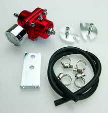 UNIVERSAL FUEL PRESSURE REGULATOR KIT WITH GAUGE FIT RED