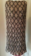 LANE BRYANT WOMENS PLEATED LOOK LONG SKIRT. BLACK AND BROWN. SZ 18/20.