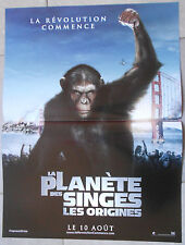 Affiche PLANETE DES SINGES ORIGINES Rise of the planet of the Apes JAMES FRANCO