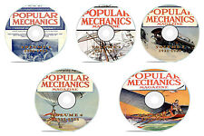 Vintage Popular Mechanics Magazine, 5 DVD Complete Set, 1904-1932, 251 issues