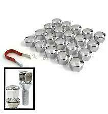 17mm CHROME Wheel Nut Covers with removal tool for CITROEN C4 PICASSO / GRAND
