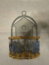 wall hanging basket metal and Wicker leaf and home pattern
