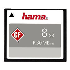 Hama Compact Flash CF Memory Card 8GB CompactFlash Hight Speed 30MB/s - UK
