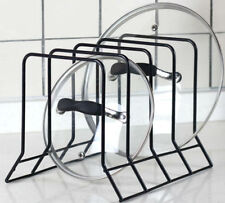 Kitchen Bakeware Pot Lid Rack Holder Organizer (Black)