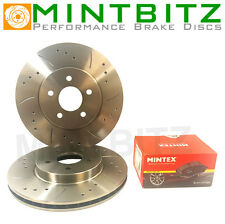 Lexus IS200 Front Drilled & Grooved Discs with Mintex Pads