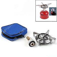 Poêles en plein air portable Mini Réchaud de camping poêle à gaz brûleur poche