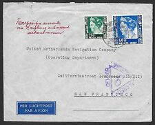 Netherlands Indies covers 1940 cens Airmailcover over Hong Kong to San Francisco