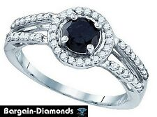 black diamond 1.05 carat 10K gold engagement ring love promise birthday bridal