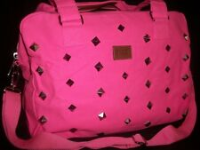 Victorias Secret Pink Neon Studded Bling Duffel Bag Tote NEW