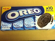 220gram BOX OF OREO BISCUITS - 10 x 2 BISCUIT PACKS - WILL SHIP WORLDWIDE