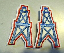 Vintage Huston Oilers Embroidered Patch LOT OF 2