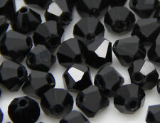 100pcs Faceted Glass Crystal Bicone Loose Spacer Beads 4mm, U Pick color